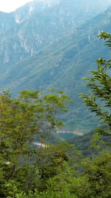 Roccamagno, vista sulla diga di Valvestino