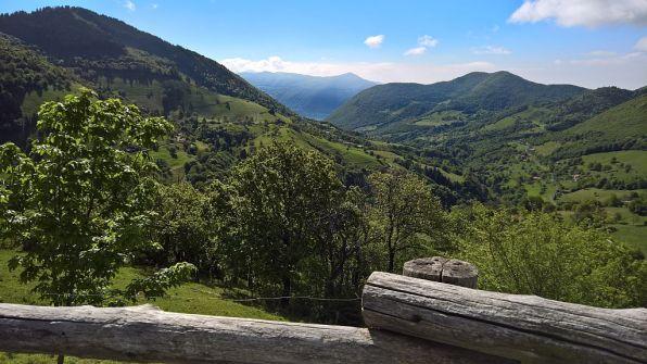 Alpeggi sopra Vigolo e lago d'Iseo