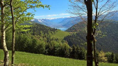 Cima Campidelli, vista su Pisogne, val Camonica, Adamello e Presanella
