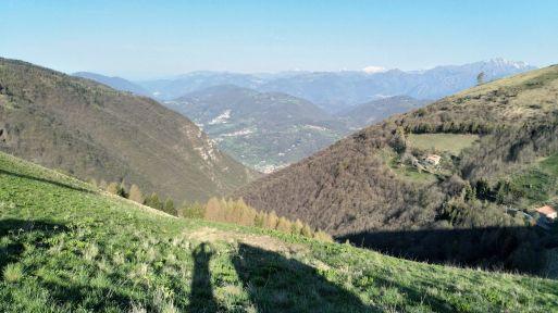 Colli di San Fermo, vista su val Cavallina