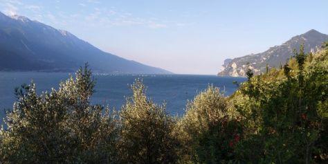 Lago di Garda dall'inizio della pista