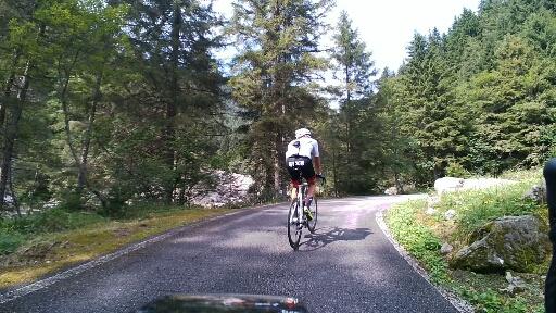 Primo tornate del tratto duro a 6km dal passo