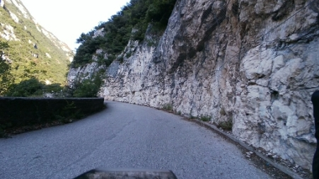 Tratto asfaltato del Ponale