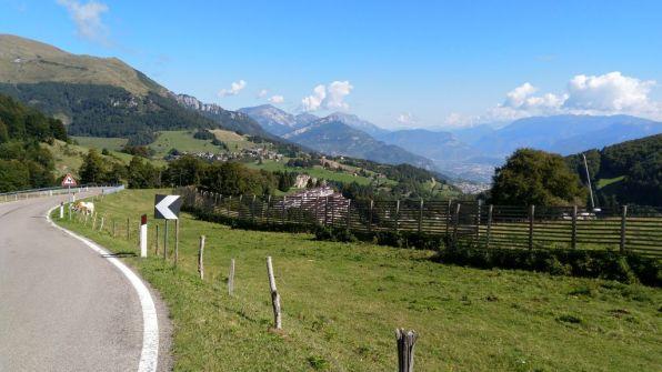 S.Valentino, veduta sulla val d'Adige