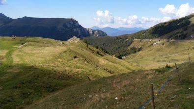 Panorama sul crinale del Monte Baldo