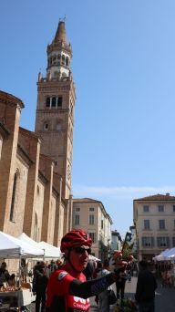 Selfie del ciclista con Campanile