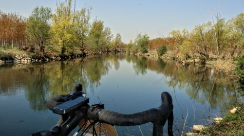 Il fiume Serio, come un dipinto