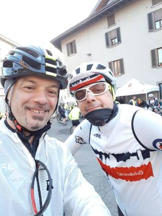 Io e Sergio alla partenza