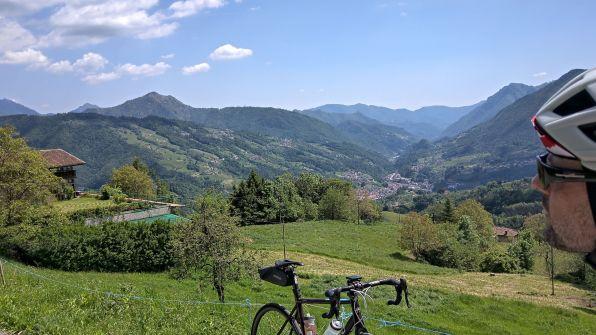 Val Brembana dall'alto
