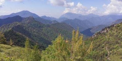 Valle del Droanello, in fondo nelle nuvole Pizzoccolo e Spino
