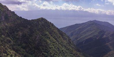 Monte Baldo, in primo piano a dx Cima di Traval e Dosso Piemp
