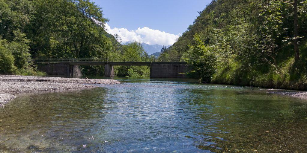 Piccola diga sul torrente San Michele