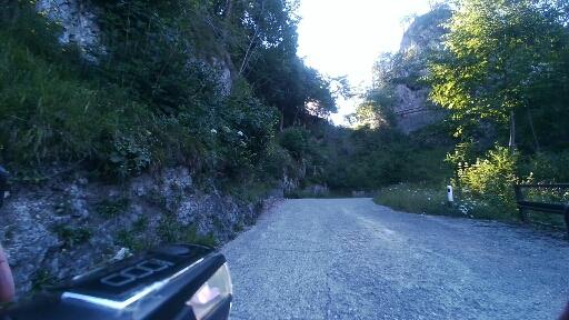 Salita a malga Alpo, tratto al 20%